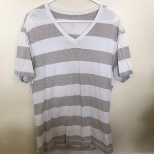 Lululemon Men's V Neck Short Sleeve Shirt